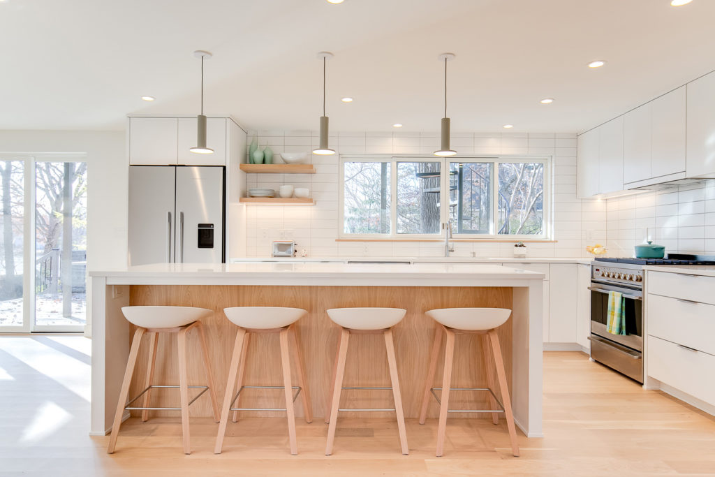 straight on view of kitchen, J Fuerst real estate photography